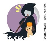 grim reaper and dog | Shutterstock .eps vector #1210785226