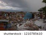 palu  indonesia   october 11th  ... | Shutterstock . vector #1210785610