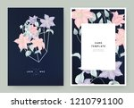 floral wedding invitation card... | Shutterstock .eps vector #1210791100