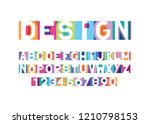 vector of modern bright font...   Shutterstock .eps vector #1210798153