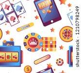 casino gambling games and... | Shutterstock .eps vector #1210798249