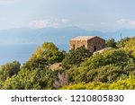 abandoned stone building in the ... | Shutterstock . vector #1210805830