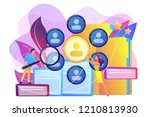 human resourses managers doing... | Shutterstock .eps vector #1210813930