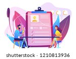 employer meeting job applicant... | Shutterstock .eps vector #1210813936