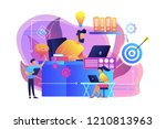 business team and work process... | Shutterstock .eps vector #1210813963