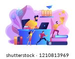 businessman at laptop and... | Shutterstock .eps vector #1210813969