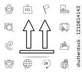 up arrows icon. logistics icons ...   Shutterstock .eps vector #1210814143