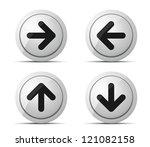 Arrows button - stock vector
