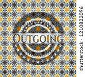 outgoing arabic emblem... | Shutterstock .eps vector #1210822096