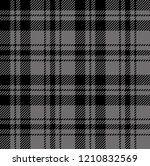 black and grey tartan plaid...   Shutterstock .eps vector #1210832569