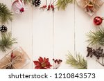 merry christmas and happy... | Shutterstock . vector #1210843573