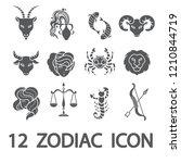 12 zodiac   horoscope outline...   Shutterstock .eps vector #1210844719