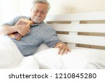 senior male unhappy is crying ... | Shutterstock . vector #1210845280