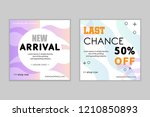 modern promotion web banner for ... | Shutterstock .eps vector #1210850893