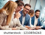 successful business group... | Shutterstock . vector #1210856263