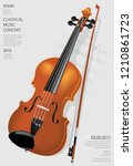 the classical music concept... | Shutterstock .eps vector #1210861723