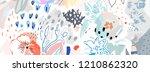 floral header. trendy graphic... | Shutterstock .eps vector #1210862320