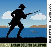 australia or new zealand anzac... | Shutterstock .eps vector #1210862800