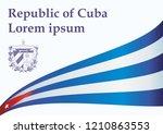 illustrative editorial flag of... | Shutterstock .eps vector #1210863553