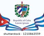 illustrative editorial flag of... | Shutterstock .eps vector #1210863559