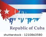 illustrative editorial flag of... | Shutterstock .eps vector #1210863580