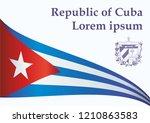 illustrative editorial flag of... | Shutterstock .eps vector #1210863583