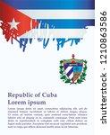 illustrative editorial flag of... | Shutterstock .eps vector #1210863586
