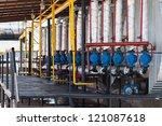 valves on a factory | Shutterstock . vector #121087618