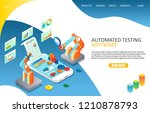automated software testing... | Shutterstock .eps vector #1210878793