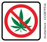 no marijuana allowed ...   Shutterstock .eps vector #1210879516