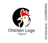 chicken logo design template   Shutterstock .eps vector #1210880506