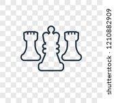 chess concept vector linear...