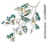 watercolor flowers in a... | Shutterstock . vector #121088689