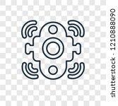 doorbell concept vector linear...