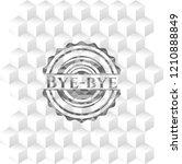 bye bye realistic grey emblem... | Shutterstock .eps vector #1210888849