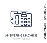 answering machine icon.... | Shutterstock .eps vector #1210889113