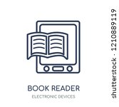 book reader icon. book reader... | Shutterstock .eps vector #1210889119