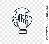 pay per click concept vector... | Shutterstock .eps vector #1210894660