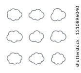 cloud vector icons  cloud... | Shutterstock .eps vector #1210896040