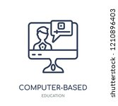 computer based training icon.... | Shutterstock .eps vector #1210896403