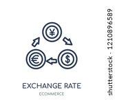 exchange rate icon. exchange... | Shutterstock .eps vector #1210896589