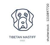 tibetan mastiff dog icon.... | Shutterstock .eps vector #1210897720