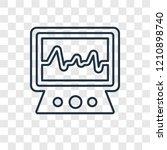 electrocardiogram concept... | Shutterstock .eps vector #1210898740