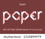 paper font. vector alphabet...   Shutterstock .eps vector #1210899979