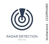 radar detection icon. trendy... | Shutterstock .eps vector #1210901083