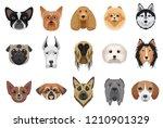 dogs cartoon heads face... | Shutterstock .eps vector #1210901329