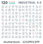 set of vector line icons of... | Shutterstock .eps vector #1210901359