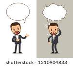 vector cartoon character a man... | Shutterstock .eps vector #1210904833