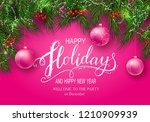 holidays greeting card for... | Shutterstock .eps vector #1210909939