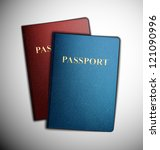 two passports  vector. eps 10 | Shutterstock .eps vector #121090996